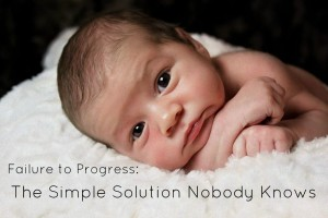 Failure to Progress: The Simple Solution Nobody Knows