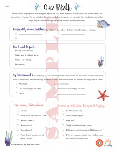 Holistic Birth Plan Template