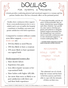 doula flyer for doctor