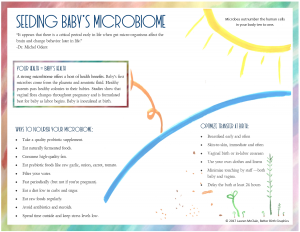 microbiome handout