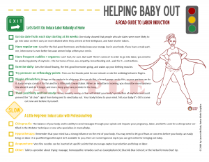 Natural Ways to Induce Labor at Home: Induction Handout